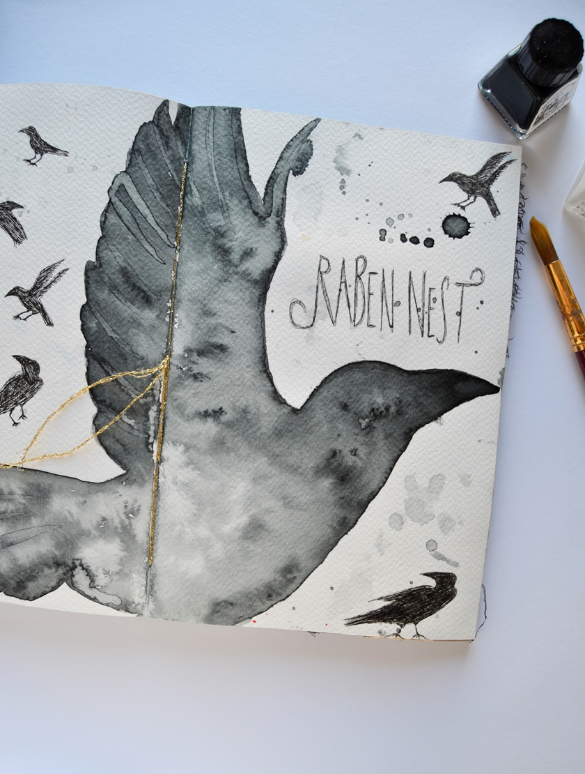 the raven nest journal get messy today i want to show you my raven nest journal it s about my spirit animal that i discovered last year i dedicated a whole journal to the