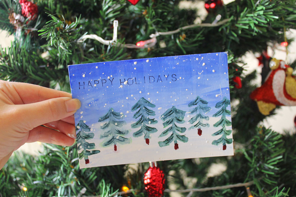 Art Journal Techniques for Holiday Cards