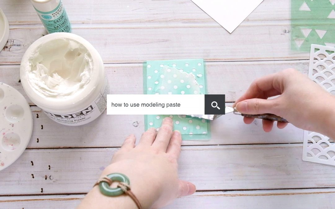 How to use modeling paste – Ask an Artist 005