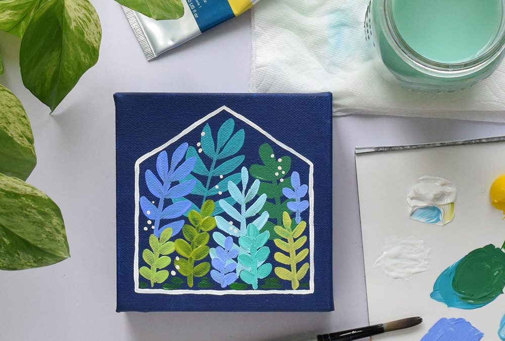 How to paint an acrylic greenhouse